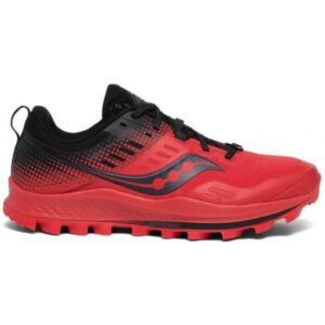 Saucony Peregrine 10 ST - Mens Trail Running Shoes - Red/Black