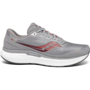 Saucony Triumph 18 - Mens Running Shoes - Alloy/Red