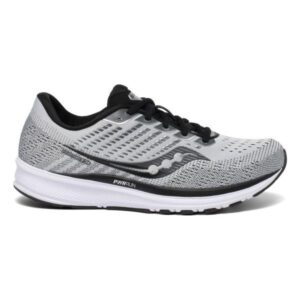 Saucony Ride 13 - Mens Running Shoes - Alloy/Black