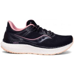 Saucony Hurricane 23 - Womens Running Shoes - Black/Rosewater