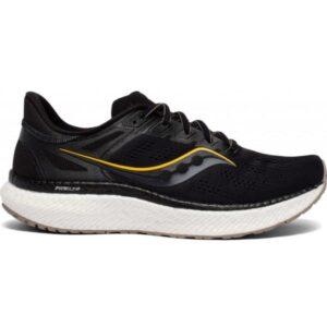 Saucony Hurricane 23 - Mens Running Shoes - Black/Vizigold