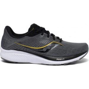 Saucony Guide 14 - Mens Running Shoes - Charcoal/Vizi Gold