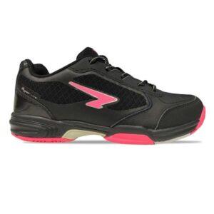 Sfida Attack 2 - Kids Netball Shoes - Black/fuchsia
