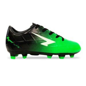 Sfida Ignite Junior - Kids Football Boots - Black/Fluro Green