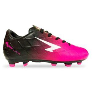 Sfida Ignite Junior - Kids Football Boots - Black/Fluro Pink