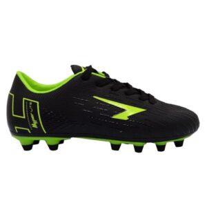 Sfida Velocity Junior - Kids Football Boots - Black/Fluro Lime