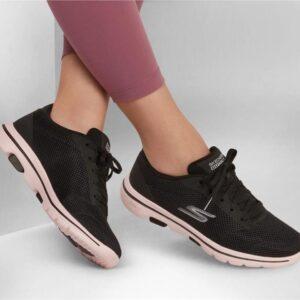 Skechers Women's Gowalk 5 - Lucky Black Pink