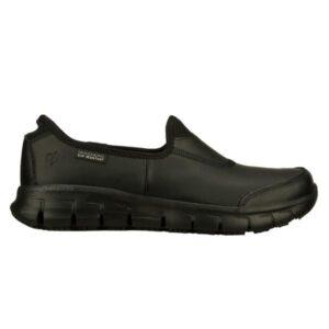Skechers Sure Track - Womens Slip Resistant Work Shoes - Black