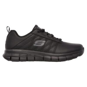 Skechers Sure Track Erath - Womens Slip Resistant Work Shoes - Black