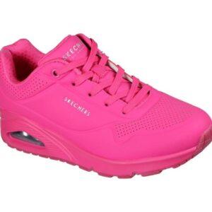 Skechers Women's Uno - Neon Nights Hot Pink