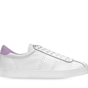 Superga Womens 2843 Club S Comfleau A0C White-Violet Lilla