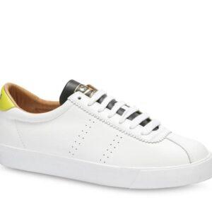 Superga Womens 2869-Club S A2F White - Lime - Black