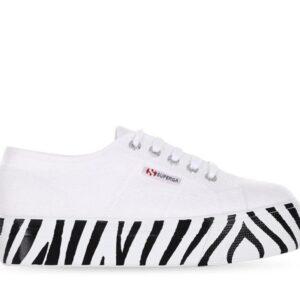 Superga Womens 2790 Cotu Animal Print A1Q White-Zebra