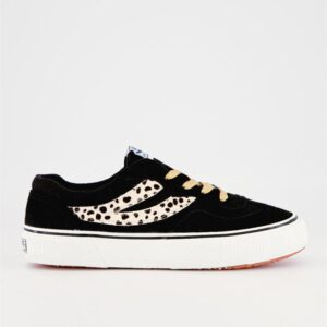 Superga Womens 2941 Revolley Cotsueponyhairw A6R Black-White-Gold