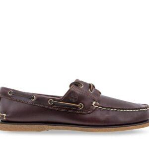Timberland Men's 2-Eye Boat Shoe Medium Brown Full-Grain