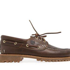 Timberland Men's Authentics 3-Eye Classic Boat Shoe Medium Brown Nubuck