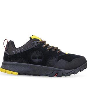 Timberland Men's Garrison Trail Low Waterproof Hiking Shoes Black Suede