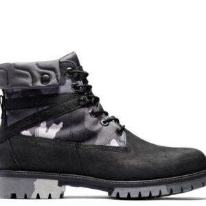 Timberland Men's Heritage EK+ 6-Inch Boot Black Full Grain