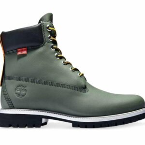 Timberland Men's 6-Inch Premium Rubber Cup Boot Dark Green Helcor