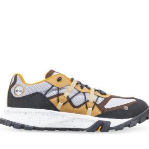 Timberland Men's Garrison Trail Hiking Sneakers Gray Orange