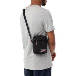 Tommy Hilfiger Mens Campus Messenger Bag Black