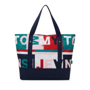 Tommy Hilfiger Statement Colour-Blocked Logo Tote All Over Print