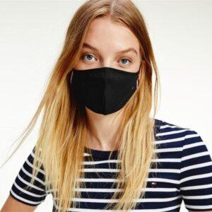 Tommy Hilfiger Flag Face Mask Black