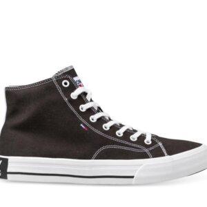 Tommy Hilfiger Mens Mid Top Flag Sneaker Black