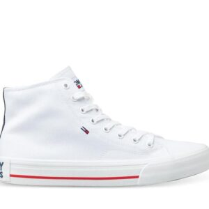 Tommy Hilfiger Mens Mid Top Flag Sneaker White
