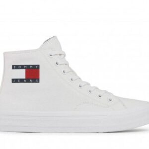 Tommy Hilfiger Mens Midcut Lace Up White