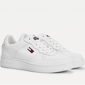 Tommy Hilfiger Mens Mono Colour Cupsole Sneaker White