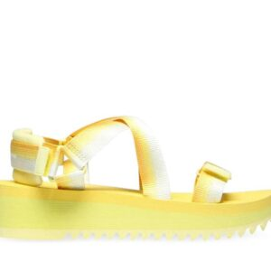 Tommy Hilfiger Womens Degrade Tape Sandal Lemon Chiffon