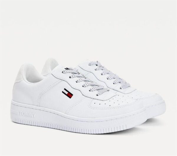 Tommy Hilfiger Womens Reflective Low Top Sneaker White