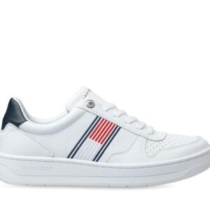 Tommy Hilfiger Mens Leather Low Top Cupsole White