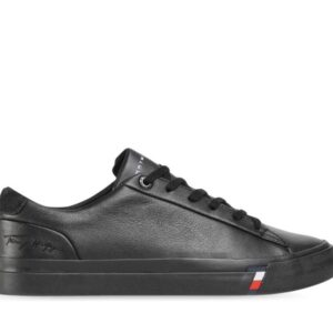 Tommy Hilfiger Mens Corporate Leather Sneaker Black