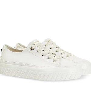 Tommy Hilfiger Womens Flatform Logo Sneakers White