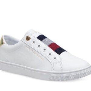 Tommy Hilfiger Womens Signature Slip-On Sneaker White