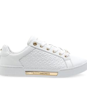 Tommy Hilfiger Womens Monogram Sneakers White