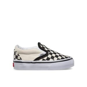 Vans Toddlers Checkerboard Slip-On Black And White Checker