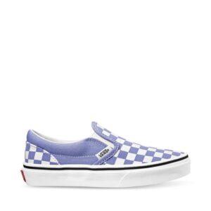 Vans Kids Classic Slip-On (Checkerboard) Pale Iris