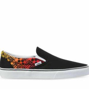 Vans CLASSIC SLIP-ON LOGO FLAME Black