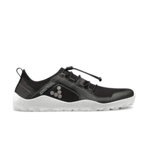 Vivobarefoot Primus Trail SG - Womens Trail Running Shoes - Black/White
