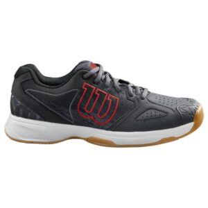 Wilson Kaos Devo - Mens Indoor Court Shoes - Ebony/Black/Wilson Red