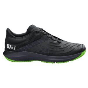 Wilson Kaos 3.0 AC Mens Tennis Shoes - Ebony/Blade Green