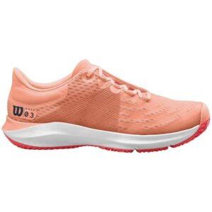 Wilson Kaos 3.0 Womens Tennis Shoes - Tropical Peach/White/Cayyenne