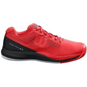 Wilson Rush Pro 3.0 CC Mens Tennis Shoes - Infrared/Black