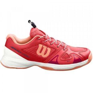 Wilson Rush Pro Junior QL - Kids Tennis Shoes - Cayenne/White/Papaya