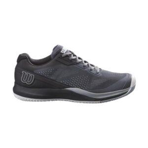 Wilson Rush Pro 3.5 AC Mens Tennis Shoes - Dark Grey/Black/Pearl Blue