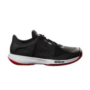 Wilson Kaos Swift AC Mens Tennis Shoes - Black/Pearl Blue/Wilson Red
