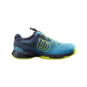 Wilson Kaos QL Kids Tennis Shoes - Barrier Reef/Navy Blazer/Lime Popsicle